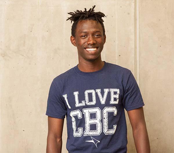 picture of student in CBC shirt