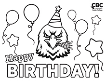 CBC Birthday Coloring Page