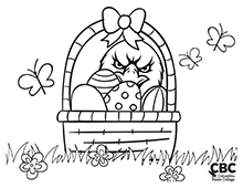 CBC Spring Coloring Page