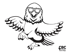 CBC Hawk with Sunglasses Coloring Page