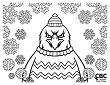 CBC Winter Coloring Page