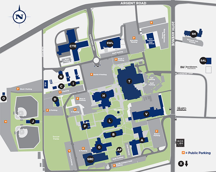 Pasco Campus Map